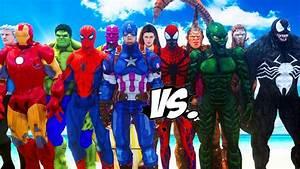 THE AVENGERS VS SPIDERMAN ENEMIES - VENOM, GREEN GOBLIN ...