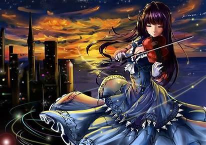 Violin Anime Mood Wallpapers Backgrounds Desktop Mobile