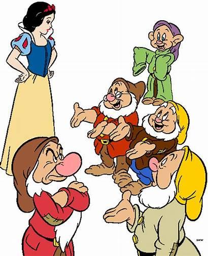 Dwarfs Seven Snow Clipart Clip Disney Doc