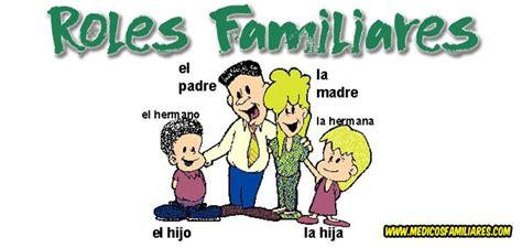 el rol en la familia roles familiares