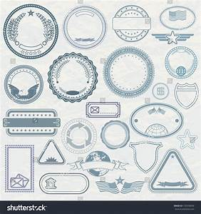 empty template of rubber stamps customizable vector With company stamp template