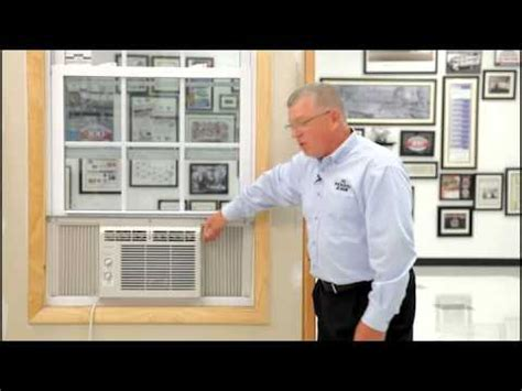 air conditioner double hung window installation youtube