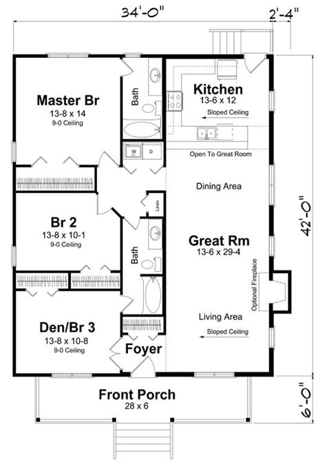 rectangle house plan   bedrooms  hallway  maximize space rectangle house plans