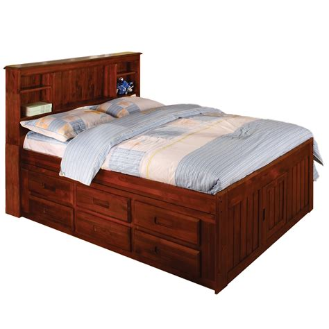 full size bookcase bed merlot bookcase 6 drawer full size bed 14108783