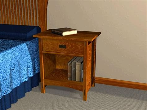 mission style open night stand furniture plans bedside