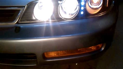 after headlight install on 1996 honda accord