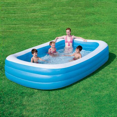 bestway deluxe family rectangular pool outdoor fun