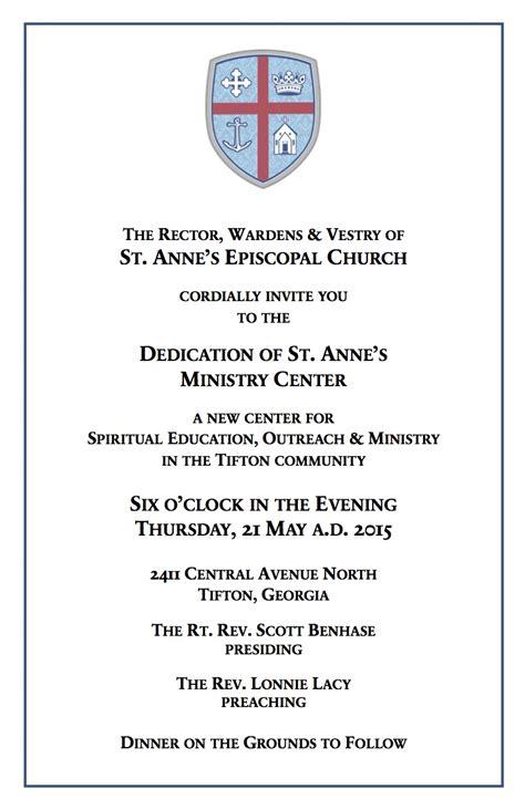 st annes episcopal church dedication   ministry