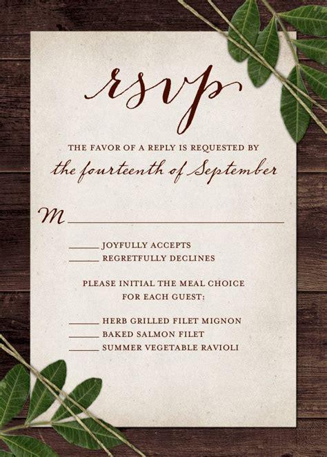 Wedding RSVP Wording and Card Etiquette 2019 Wedding
