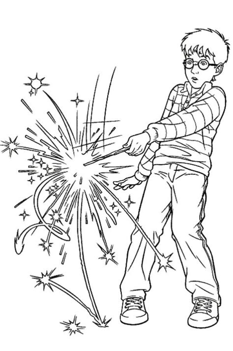 harry potter spell wrong magic word coloring page