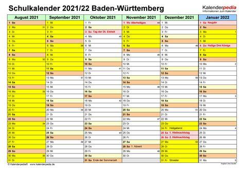 Kalender 2021 ferien baden wurttemberg feiertage from www.schulferien.org. Ferien Bw 2021/22 : Kalender 2021 Baden-Württemberg ...