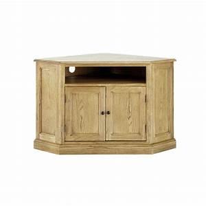 Meuble Angle Bois : meuble tv d 39 angle bois de ch ne atelier maisons du monde ~ Edinachiropracticcenter.com Idées de Décoration