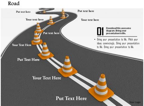 roadmap  multiple traffic cones  business