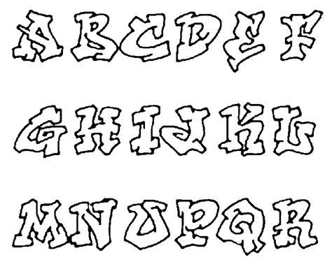 Graffity Kleurplaat by Graffiti Alfabet Kleurplaten