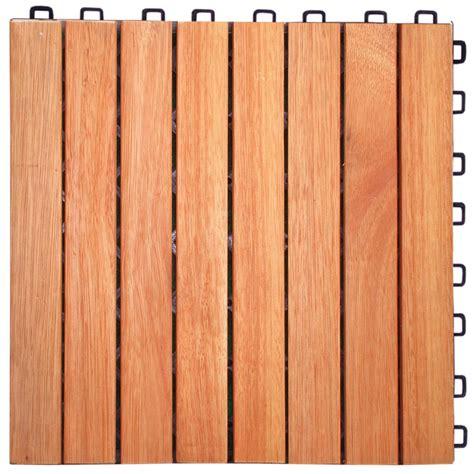 Vifah Deck Squares Canada by Vifah 174 Eucalyptus 8 Slat Interlocking Wood