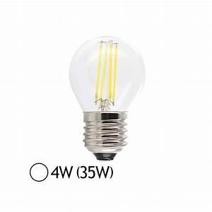Ampoule Led Filament : ampoule led 4w 35w e27 filament bulb claire blanc jour led et fluo ~ Teatrodelosmanantiales.com Idées de Décoration