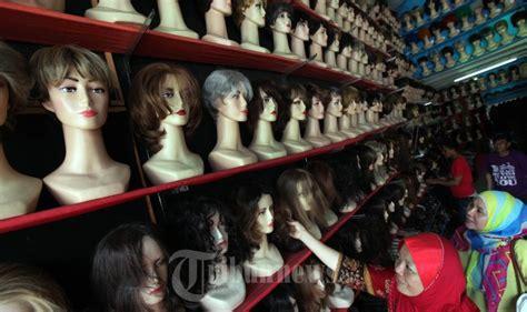 toko bazz jaya menjual rambut palsu  wig foto