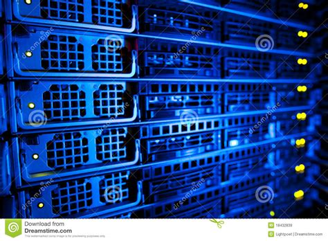 Audio Equipment Rack Cabinet by Server Rack Cluster In A Data Center Royalty Free Stock