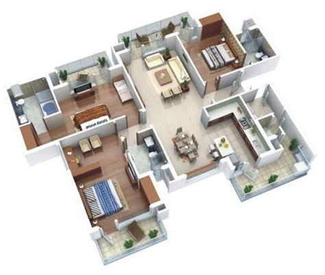 25 Three Bedroom Houseapartment Floor Plans by 25 Three Bedroom House Apartment Floor Plans Interior