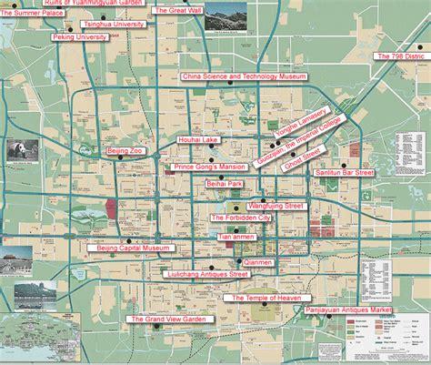 beijing travel maps   printable tourist maps forbidden city subway maps