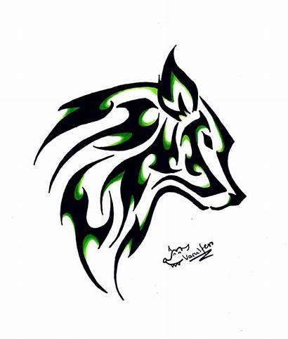 Wolf Tattoo Tribal Simple Head Askideas Ink