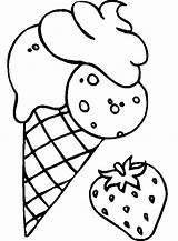Coloring Ice Cream Strawberry Pages Drawing Mix Cookie Flavoured Print Adult Cookies Cone Colouring Sheets Printable Para Shortcake Banana Cake sketch template