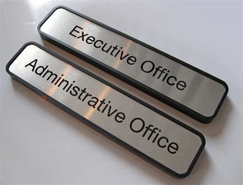 paper clip holder office door name plates metal office signage