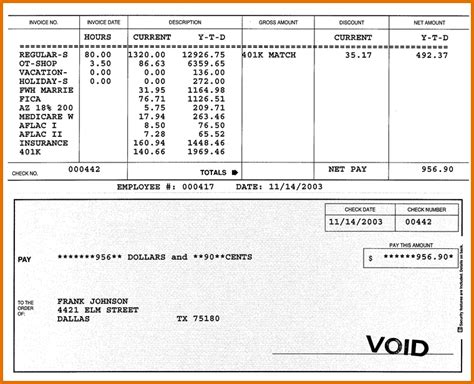 Pay Stub Template 6 Pay Stub Template Pdfreference Letters Words