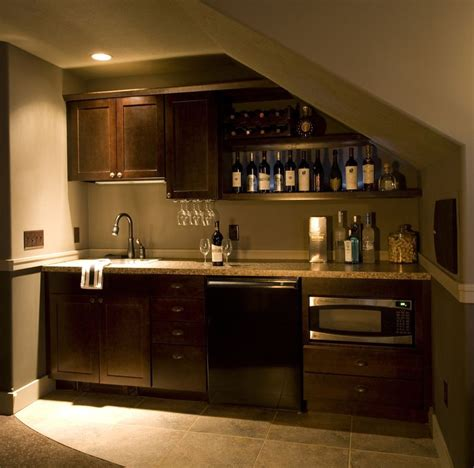 bar area  man cave  garage kitchenette design bars  home bar  stairs