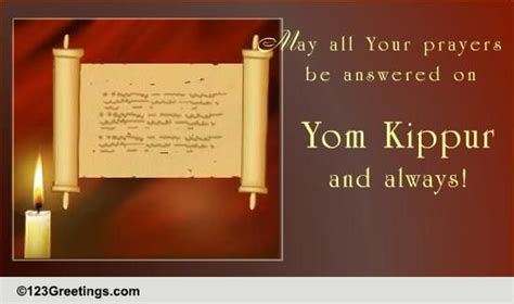 prayers  yom kippur ecards greeting cards