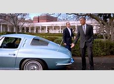 Barack Obama and Jerry Seinfeld in a Corvette