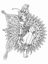 Coloring Fantasy Pages Adult Adults Printable sketch template