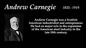 Andrew Carnegie - Top 10 Quotes - YouTube