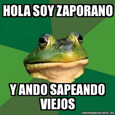 Foul Bachelor Frog Meme Generator - meme foul bachelor frog hola soy zaporano y ando sapeando viejos 19485421