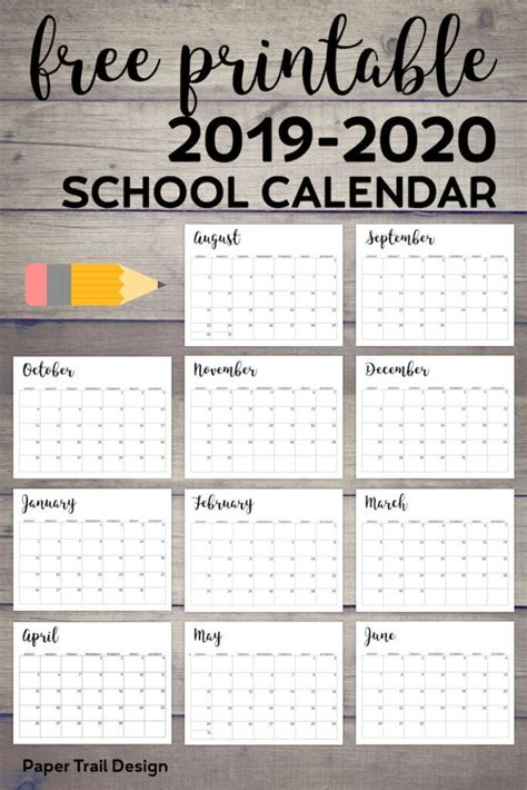 printable school calendar school calendar