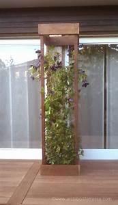 Support Terrasse Bois : jardini re et bac de terrasse bois d coupe autour des ~ Premium-room.com Idées de Décoration