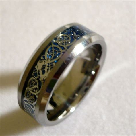 8mm s tungsten carbide celtic pattern wedding band ring size 6 ebay