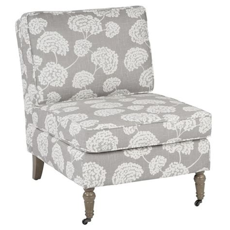 accent chair with solid wood caster legs in grey mad51 r4