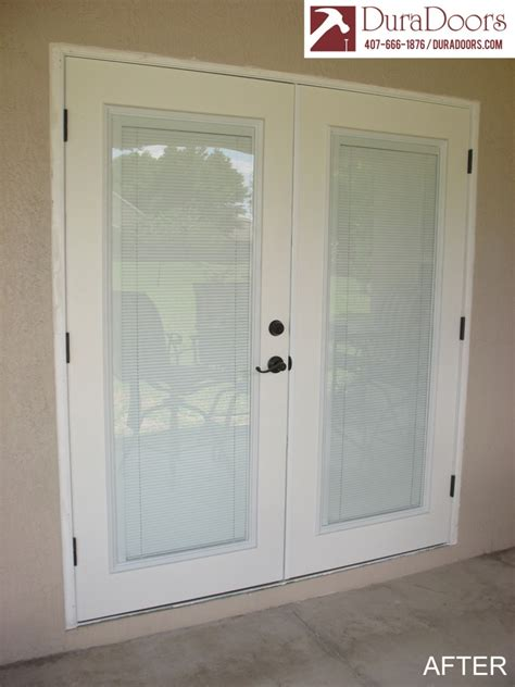 plastpro doors with odl enclosed blinds duradoors