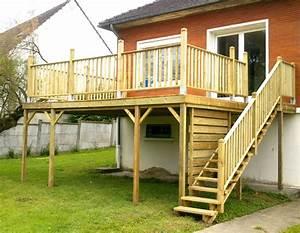 terrasse bois dans l39oise 60 specialiste pose et creation With terrasse bois sur pilotis