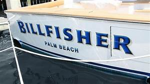 billfisher palm beach boat transom boats transom With boat transom lettering