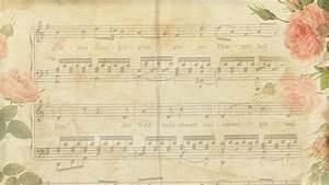 Vintage Music Notes Wallpaper
