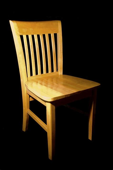 free photo chair wooden black wood pine free image