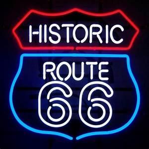 Enseigne Lumineuse Vintage : enseigne lumineuse route 66 us way of life ~ Teatrodelosmanantiales.com Idées de Décoration