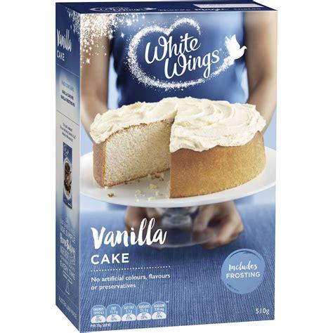 white cake mix white wings vanilla cake mix 510g woolworths 1305