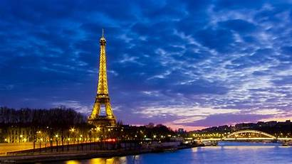 Eiffel Tower Paris France Wallpapers Evening Towers