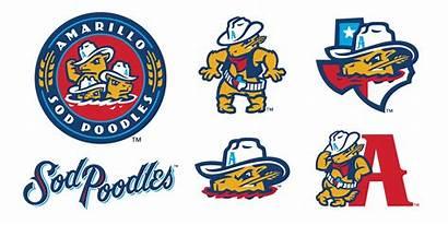 Sod Poodles Logos Amarillo Minor League Baseball
