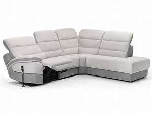 canape d39angle electrique balmoral meubles atlas With tapis de couloir avec canape angle relaxation electrique