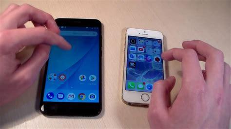 xiaomi mi a1 vs iphone 5s hd