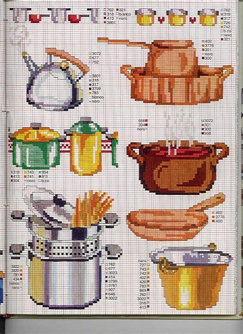 point de croix cuisine la casserole cuisine toutes les grilles com grilles